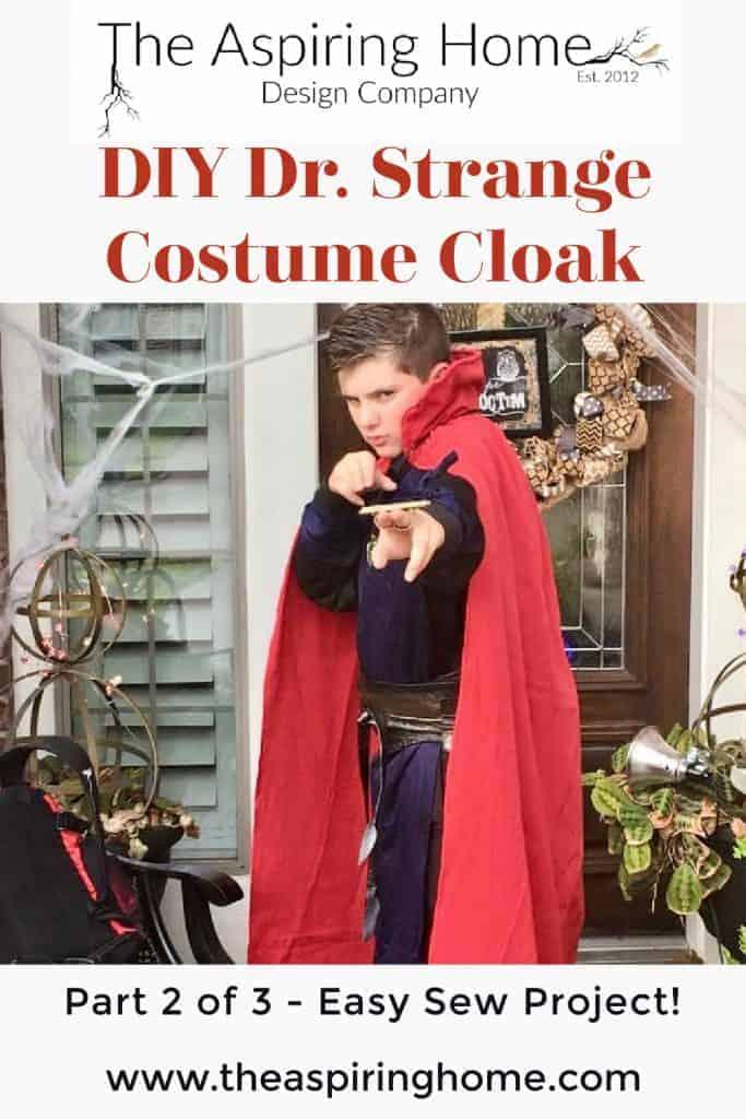 DIY Dr. Strange Costume Cloak