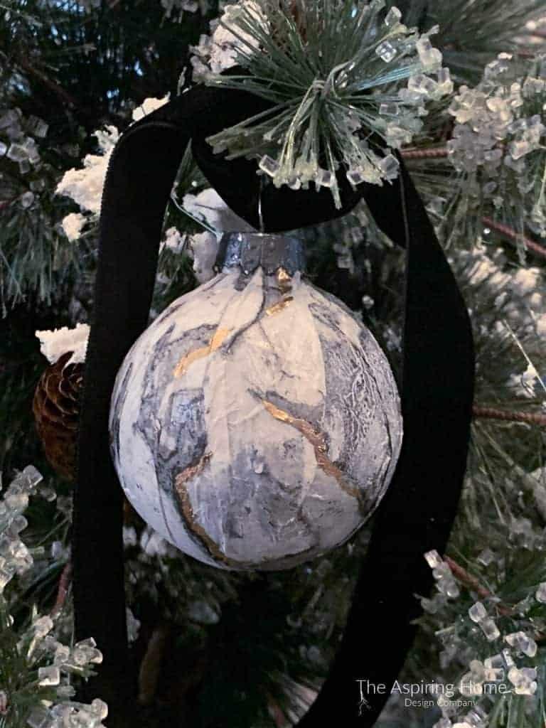 faux marble ornament
