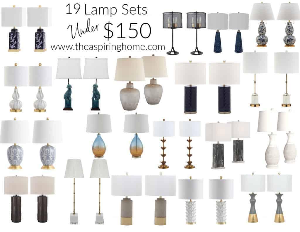lamp sets under $150