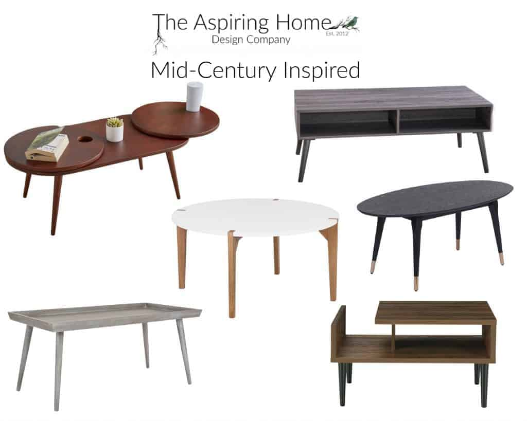 17 coffee tables under $150 Mid Century inspired The Aspiring Home
