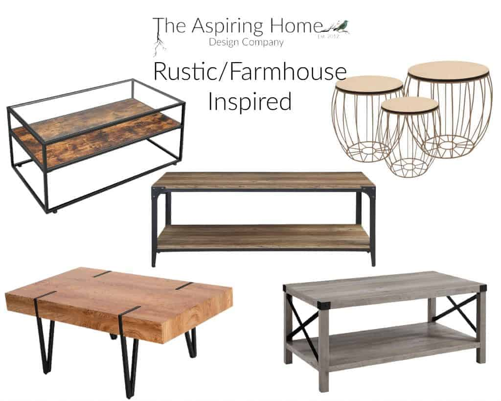 17 coffee tables under $150 Rustic farmhouse inspired The Aspiring Home