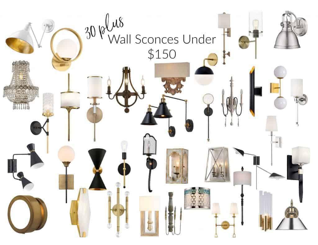 wall sconces under $150 The Aspiring Home