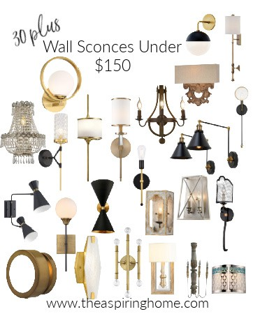 wall sconces under $150