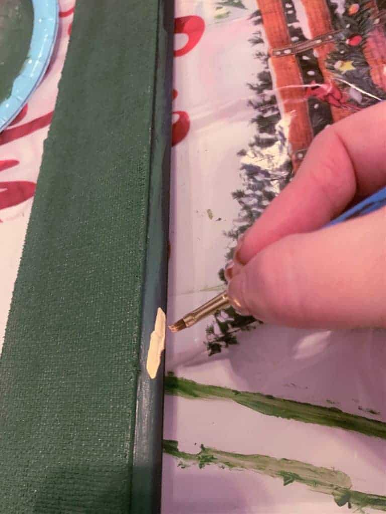 Paint the frame mat paint gold leaf to add more detail