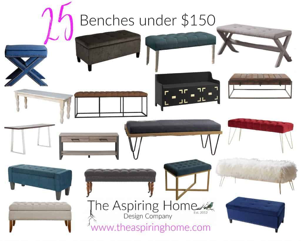 25 Benches For Under $150 - Frugal Finds Series