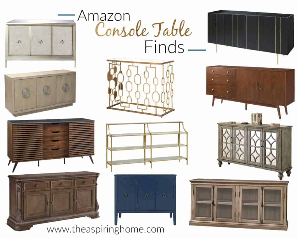 beautiful budget friendly amazon console tables