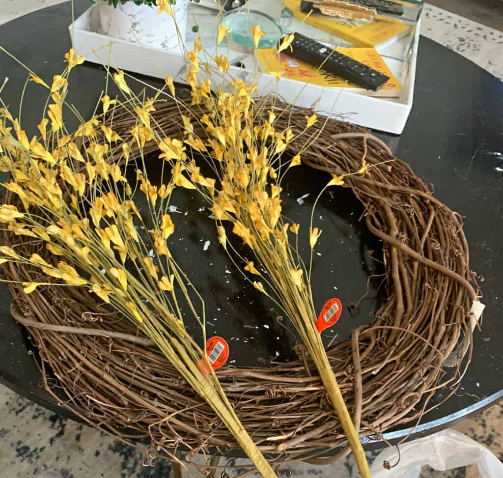 supplies needed for making fall front door wreath